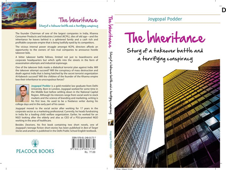 "Front and back cover of ""The Inheritance"" by Joygopal Podder"