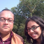 Piya and Joygopal Podder on a sunny morning in India