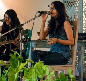 Photo of Piya Podder performing on stage at a musical gig