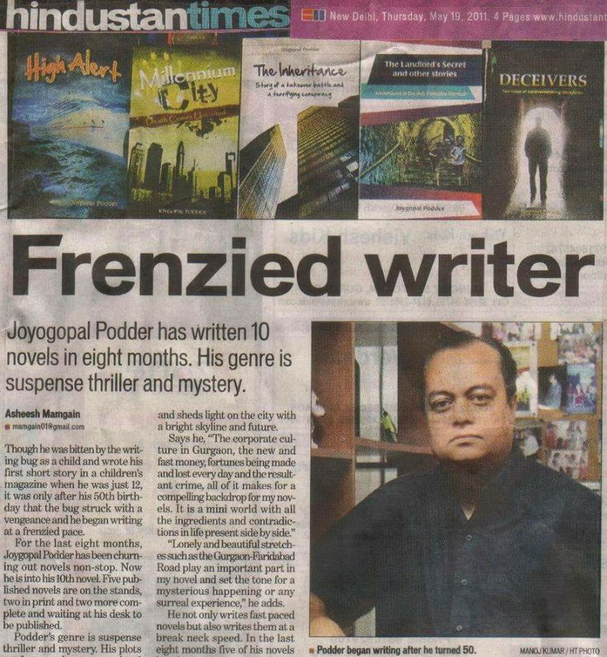 Joygopal Podder Frenzied Writer