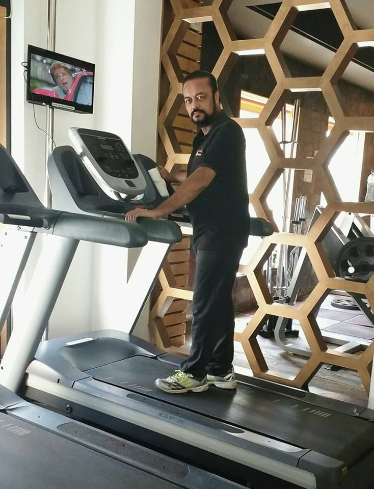 Joygopal Podder on the treadmill
