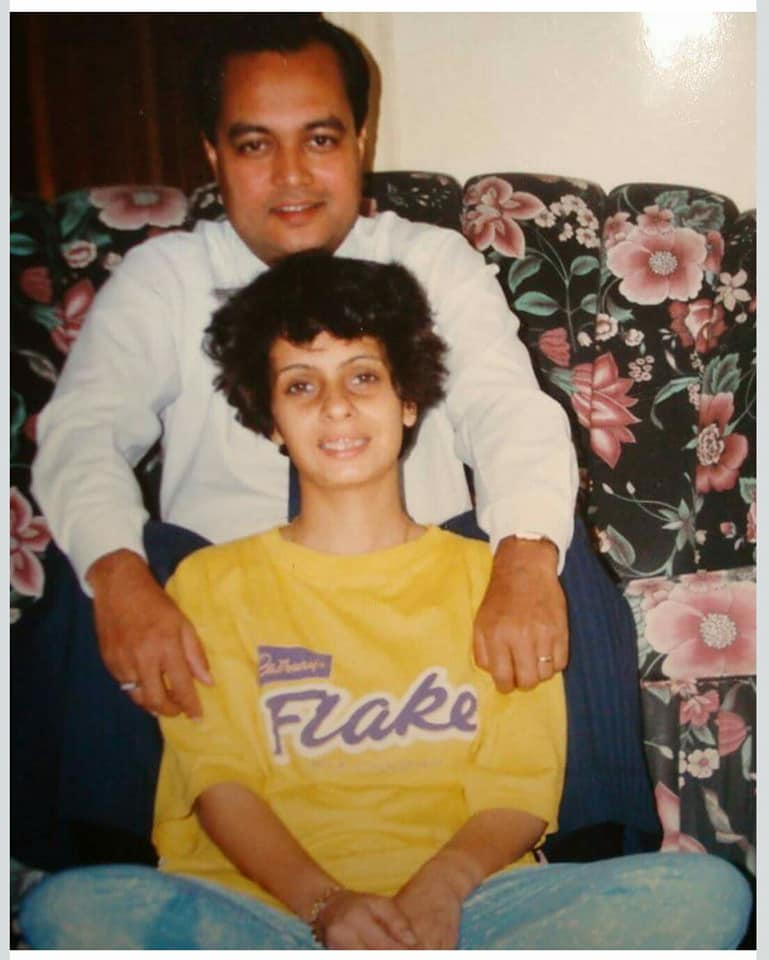 photo of Joygopal and Priti Podder in the port city of Jeddah in Saudi Arabia 1995