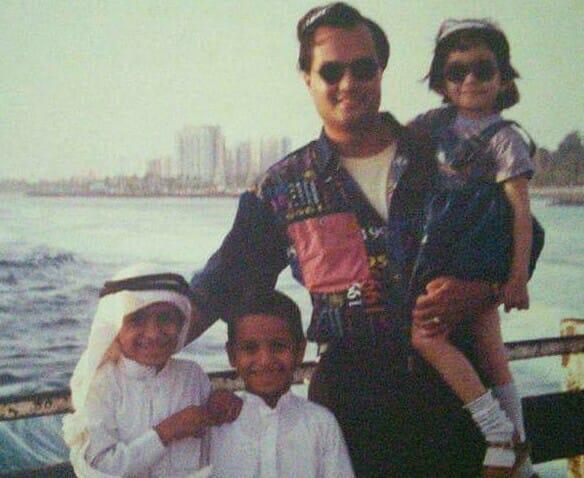 Panvi and Joygopal Podder in Saudi Arabia 1995