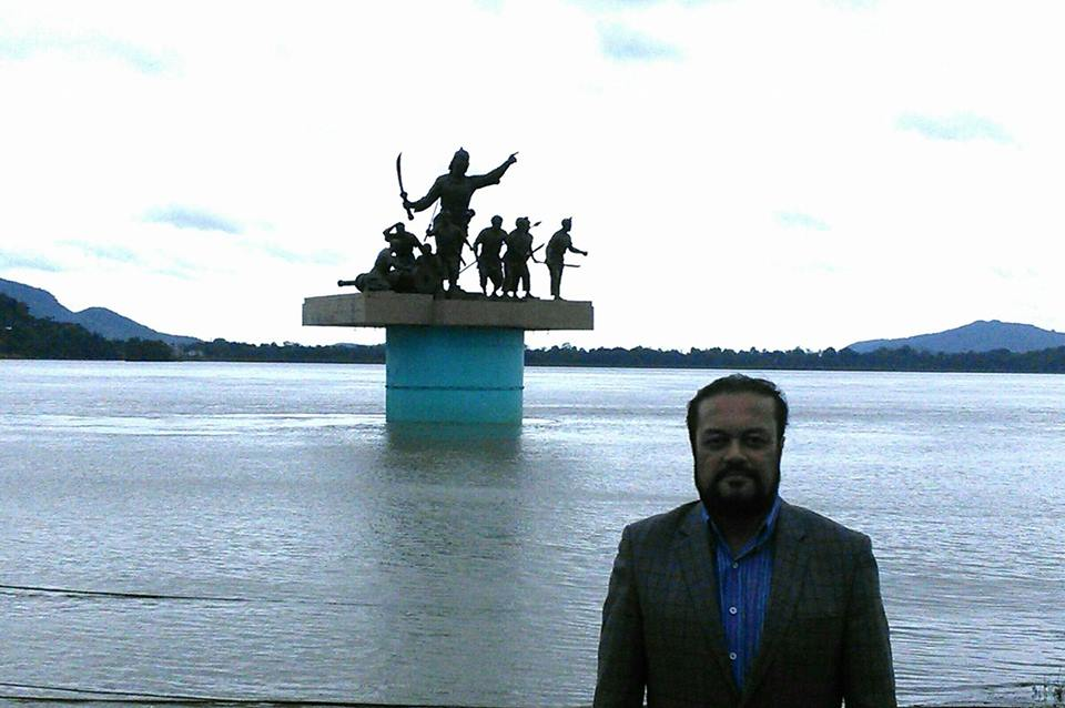 The river Brahmaputra in Guwahati yesterday morning